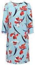 APART Fashion Navy-RED-Print, Vestito Donna, Mehrfarbig (Rauchblau-Multicolor Rauchblau-Multicolor), 44