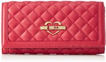 Love Moschino Portafogli Nappa Pu Trap.rosso - Pochette da giorno Donna, Rot (Red), 10x20x3 cm (L x H D)
