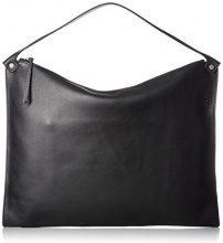 Ecco Sculptured Shoulder Bag - Borse a spalla Donna, Schwarz (Black), 2x33x45 cm (B x H T)