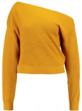 Topshop OFF SHOULDER CROP Maglione mustard