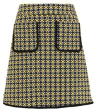 Dorothy Perkins GEO SKIRT Gonna a campana yellow