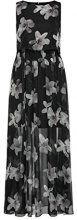 APART Fashion Glamour Meets with Flowers & Lace, Vestito Donna, Mehrfarbig (Black-Champagner), 36