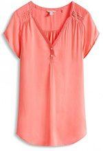 ESPRIT - luftig, Camicia Donna, Rosso (CORAL 645), XS (Taglia Produttore: 34)