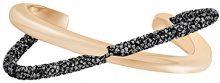 Swarovski Bracciale rigido Crystaldust Cross, nero, placcato oro rosa