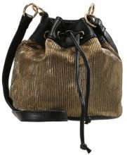 Missguided DRAWSTRING PLEATED BUCKET BAG Borsa a tracolla gold