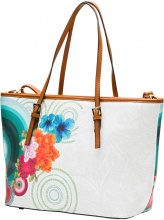 Borsa shopper stampata (Bianco) - bpc bonprix collection
