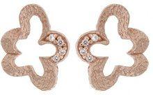 Orphelia–Orecchini da donna 925argento con zirconi bianchi taglio rotondo–zo–7077, argento, colore: Rose-Gold, cod. ZO-7077/1