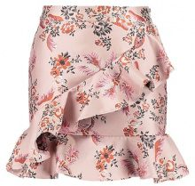 Endless Rose ASYMMETRICAL RUFFLE Minigonna dusty rose brocade