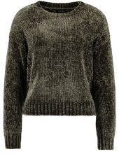 New Look CHENILLE CROP JUMPER Maglione khaki