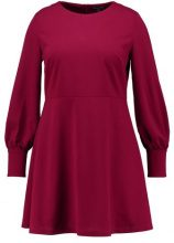 Second Script Curve BUTTON DETAIL FLIPPY HEM DRESS Vestito estivo berry