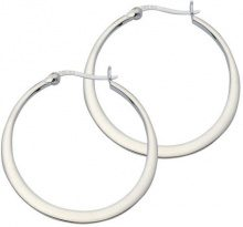 E-10963 - Orecchini a cerchio da donna, argento sterling 925