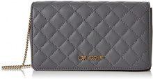 Love Moschino Borsa Nappa Quilted Pu Grigio - Borse a spalla Donna, (Grey), 6x14x22 cm (B x H T)