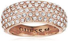 Guess–Anello da donna in metallo lega vetro bianco ubr51433, base metal, 56 (17.8), colore: oro rosa, cod. UBR51433-56