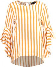 New Look STRIPE MADRID FLARE SLEEVE Camicetta yellow
