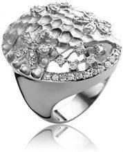 Argento 925 Orphelia Damen-anello rodiato bianco taglio brillante Zirconia taglia 58 (18,5) - R-4203-RP/58