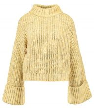 Topshop NEPPY TURNBACK FUN Maglione yellow