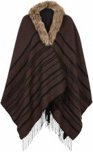 Poncho con ecopelliccia (Marrone) - bpc bonprix collection