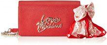 Love Moschino Borsa Saffiano Pu Rosso - Borse Baguette Donna, (Red), 5x14x24 cm (B x H T)