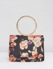 ASOS - Borsa a tracolla a fiori con manico ad anello e tracolla removibile - Multicolore