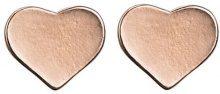 Pilgrim Valentine Rose-Orecchini a perno placcati in oro
