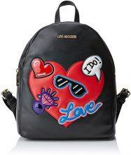 Love Moschino Borsa Nappa Pu Nero - Borse a zainetto Donna, (Black), 11x30x26 cm (B x H T)