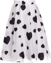 J.CREW FLOATING HEARTS Gonna a campana white
