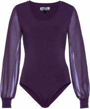 Body modellante con maniche in chiffon (viola) - bpc selection premium
