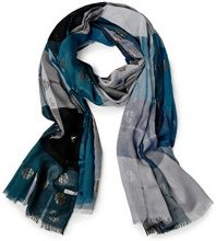 Cecil Check and Foil Scarf, Cappello in Felto Donna, Schwarz (Black 30001), Taglia unica