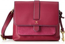Fossil Kinley - Borse a tracolla Donna, Rot (Raspberry Wine), 8.26x18.42x22.86 cm (B x H T)