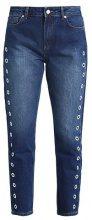 Moss Copenhagen APRIL EYELET Jeans baggy lt. denim blue