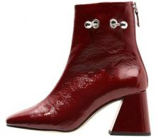 Topshop MIGHTY BOOT PATENT Stivaletti burgundy