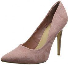 New LookScrumptious - Scarpe Col Tacco Punta Chiusa Donna, Rosa (Pink (Light Pink)), 41