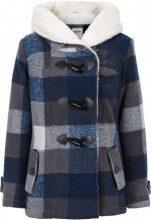 Giacca in misto lana con pellicciotto sintetico (Blu) - John Baner JEANSWEAR