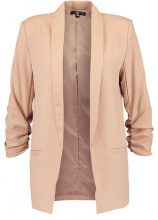 Missguided GATHERED SLEEVE TAILORED  Blazer nude