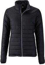 James & Nicholson Ladies' Padded Jacket, Cappotto Donna, Nero (Nero), 40