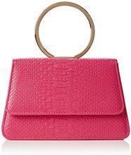 SwankySwans SwankySwansPiper Snakeskin Pu Leather Clutch Bags Pink - Sacchetto donna, rosa (Pink (Fuschia)), Taglia unica
