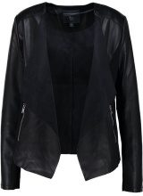 Dorothy Perkins Tall WATERFALL JACKET Giacca in similpelle black