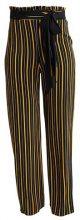 Miss Selfridge STRIPE WIDE LEG TROUSER Pantaloni black
