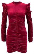 Miss Selfridge RUCHED BIG SLEEVE HIGH NECK Vestito elegante red