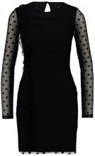 Miss Selfridge SPOT MESH RUCHED DRESS Vestito black