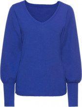 Pullover con maniche a palloncino (Blu) - BODYFLIRT
