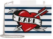 KARL LAGERFELD CAPTAIN KARL MINAUDIERE Pochette white
