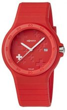 M-Watch WYO.15235.RC Orologio da Polso, Display Analogico, Unisex, Cinturino Silicone, Rosso