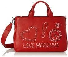 Love Moschino Borsa Calf Pu Rosso - Borse a spalla Donna, (Red), 12x26x38 cm (B x H T)