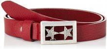 MGM Doubel Star, Cintura Donna, Rosso (DKL.Rot), 80 cm