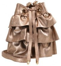 Missguided LAYERED RUFFLE DRAWSTRING BAG Borsa a tracolla bronze