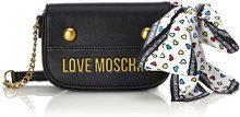 Love Moschino Nappa Grain Pu Nero - Borse Baguette Donna, (Black), 6x12x19 cm (B x H T)
