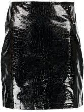 Fashion Union Tall MEL CROC Gonna a campana black