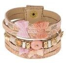 MADITA - Bracciale - brown/rose mix