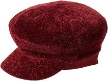 New Look Chenille Bakerboy, Cappello Porkpie Donna, Red (Dark Burgundy), Taglia Unica